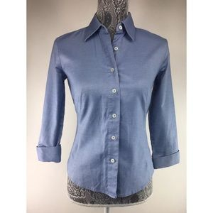Banana Republic Womens XS Blue Blouse Top Button